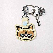 Kľúčenky - Prívesok nevrlá mačka - 11401180_