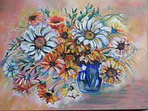 Obrazy - Kvety na stole - 11400022_