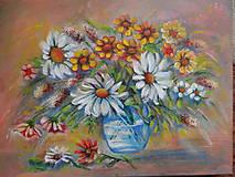 Obrazy - Kvety vo váze - 11400045_