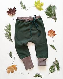 Detské oblečenie - Rastúce nohavice  (86/92 - Zelená) - 11401589_