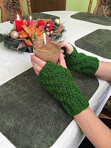 Rukavice - Návleky na ruky : zelené - imelo (zelená- Imelo) - 11400750_