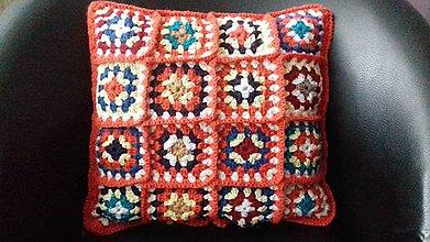 Úžitkový textil - Vankúš farebný (Tehlový) - 11399562_