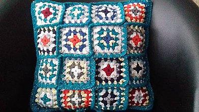 Úžitkový textil - Vankúš farebný (Zelený) - 11399570_