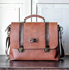 Veľké tašky - Kožená retro brašňa - 11399069_