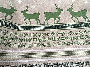 Úžitkový textil - obrus jeleni - 11398925_