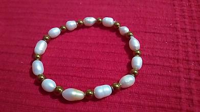 Náramky - náramok z riečnych perál - 11400902_