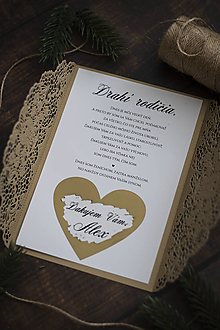 Papiernictvo - Poďakovanie pre rodičov - Gold Elegant ❤ - 11398595_