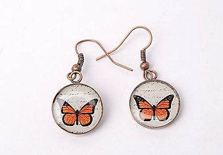 Náušnice - náušnice motýľové - 11399552_
