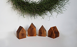 Dekorácie - Drevené domčeky prírodné - 11398842_