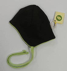 Detské čiapky - Prechodná čiapočka merino/biobavlna - 11398252_