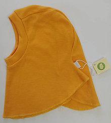Detské čiapky - Detská merino kukla (6 m - 3 roky - Oranžová) - 11400218_