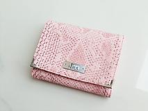Peňaženky - Něžná Růžová - malá i na karty - SKLADEM - 11398538_