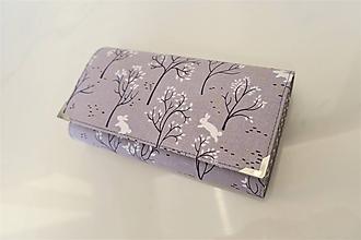 Peňaženky - Malý bílý králíček -17 cm na spoustu karet SKLADEM karet - peněženka 17 cm, na spoustu karet - 11398505_