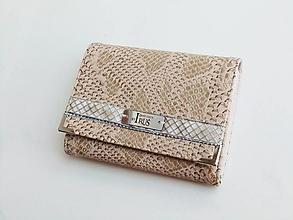 Peňaženky - Elegantní Béžová - 13 cm i na karty - 11398541_