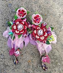 Náušnice - Romanticke nausnicky - 11399145_