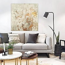 Obrazy - Biela a bronz, 100x100, abstraktné obrazy, abstraktný obraz - 11400123_