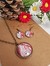 Sady šperkov - Set Red Hoop - 11398683_