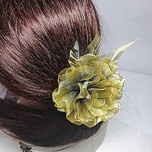 Ozdoby do vlasov - Šifónová ruža - univerzálna ozdoba - 11399938_
