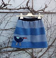 Sukne - Flísová sukně s ptáčkem - 11402368_