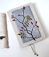 Papiernictvo - Obal na knihu-ručne maľovaný-Posledné šípky - 11403035_