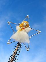 Dekorácie - anjelik...špic na stromček - 11404380_
