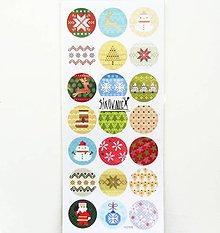 Papier - Vianočné samolepky, výšivka - 11403765_