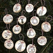 Dekorácie - Sada 14 ks vintage vianočných ozdôb - 11404531_