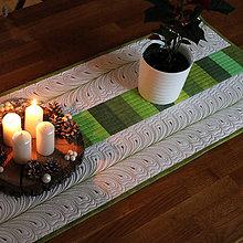 Úžitkový textil - Běhoun v zelených tónech - 11405496_