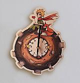 Hodiny - Malý princ, planétka - nástenné hodiny. - 11403980_
