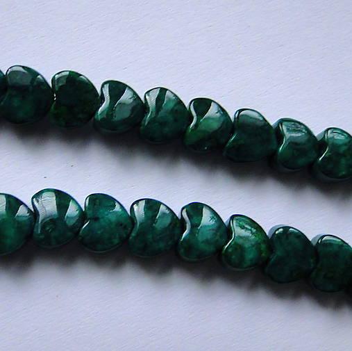 MARBLE srdce-1ks (6mm-smaragd)