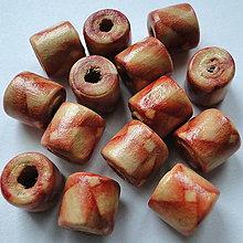 Korálky - Drevené korálky-súdočky 9x10mm-1ks - 11403083_