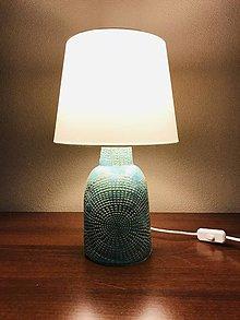 Svietidlá a sviečky - Lampa tyrkys srdiečková - 11404878_