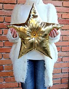 Dekorácie - vankúš hviezda 2 - 11405281_