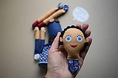 Hračky - Gombíková bábika Lulu - 11402757_