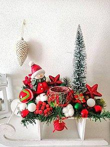 Dekorácie - Vianočné XXL sane - 11403162_