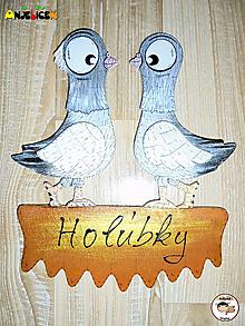 Tabuľky - Menovka - holúbky - 11405300_