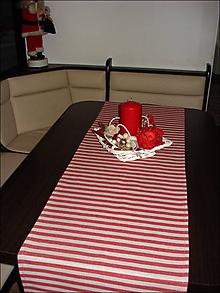 Úžitkový textil - prúžková štola - 11405040_