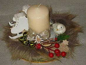 Svietidlá a sviečky - Vianočný svietnik - 11405069_