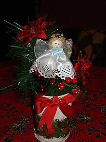 Dekorácie - Vianočná ikebana s anjelikom - 11405113_