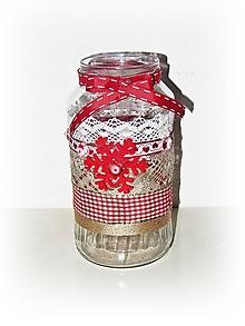 Svietidlá a sviečky - Vianočný vintage svietnik - 11405605_
