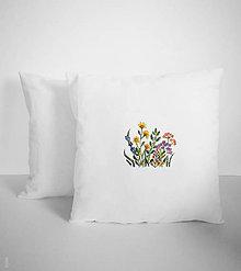 Úžitkový textil - Vankúš kvietky - 11403986_