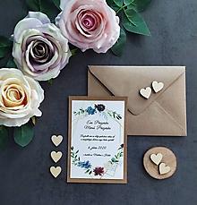 Papiernictvo - Svadobné oznámenie LÁSKA A - 11405668_