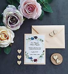Papiernictvo - Svadobné oznámenie LÁSKA C - 11405682_