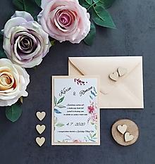 Papiernictvo - Svadobné oznámenie RADOSŤ C - 11405759_