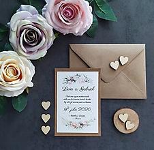 Papiernictvo - Svadobné oznámenie ŠŤASTIE A - 11405798_