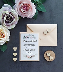Papiernictvo - Svadobné oznámenie ŠŤASTIE C - 11405821_