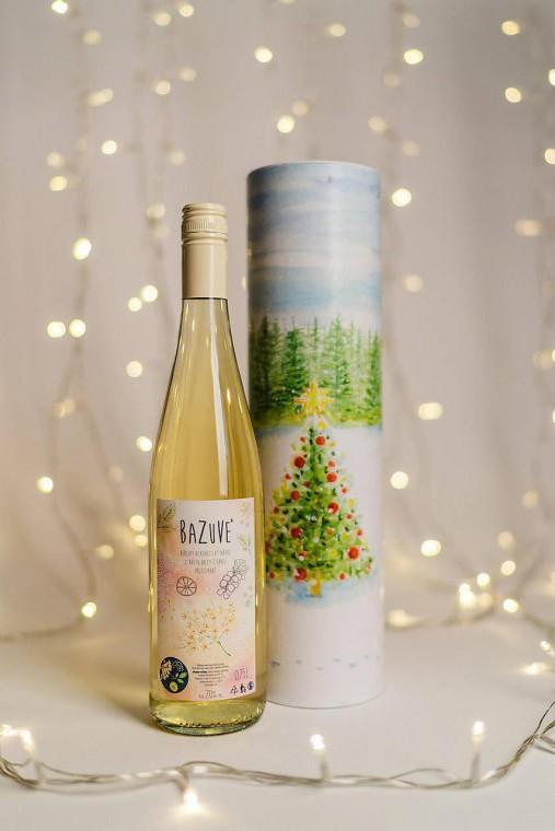 Darčekový tubus na fľašu vínka, alebo sirupu