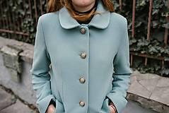 Kabáty - Vlnený kabát princess strihu SEVERANKA-jemná modrá - 11405146_