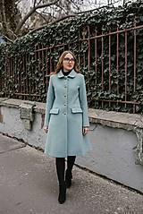 Kabáty - Vlnený kabát princess strihu SEVERANKA-jemná modrá - 11405148_