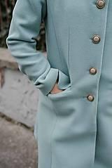 Kabáty - Vlnený kabát princess strihu SEVERANKA-jemná modrá - 11405149_
